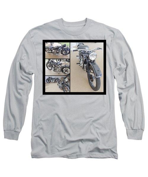 Bmw Art Deco Bikes Long Sleeve T-Shirt by Maj Seda