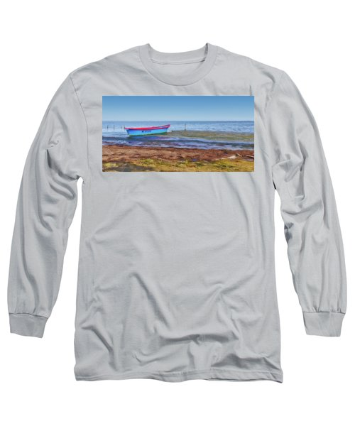 Boat At The Pond Long Sleeve T-Shirt
