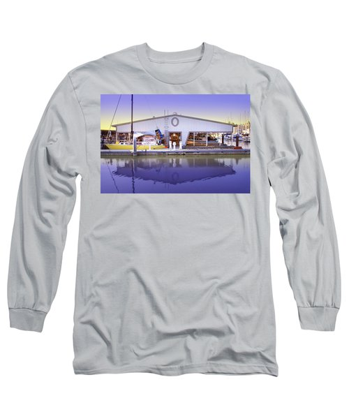 Long Sleeve T-Shirt featuring the photograph Boat House by Sonya Lang