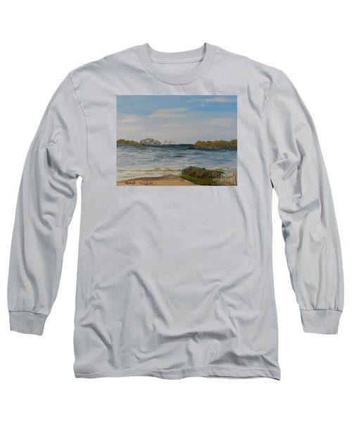 Boat On The Beach Long Sleeve T-Shirt