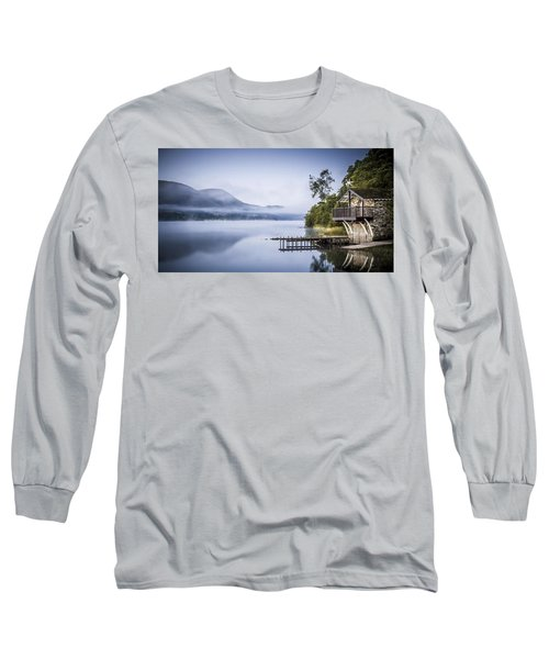Boathouse At Pooley Bridge Long Sleeve T-Shirt