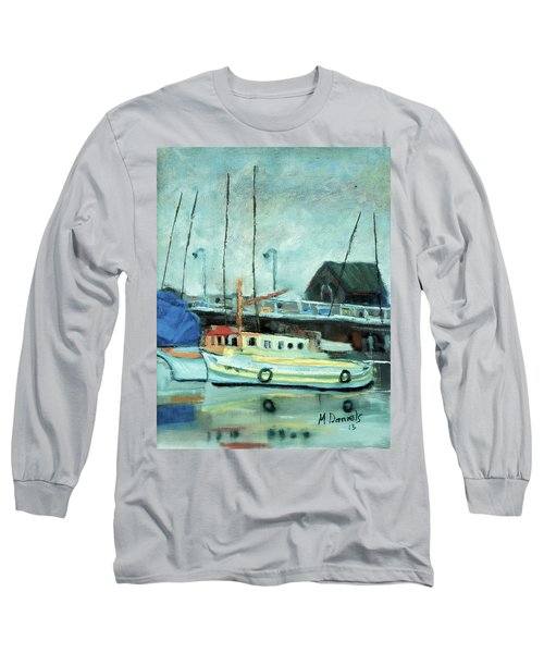Boats At Provincetown Ma Long Sleeve T-Shirt