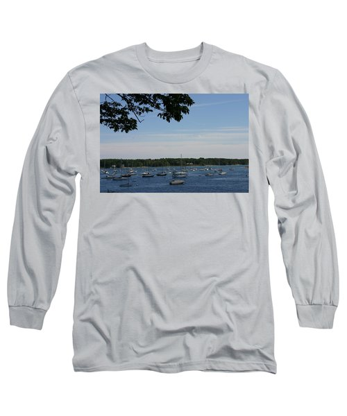 Long Sleeve T-Shirt featuring the photograph Boats At Rest by Denyse Duhaime