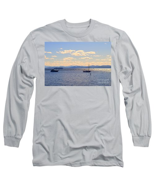 Boats On Lake Champlain Vermont Long Sleeve T-Shirt