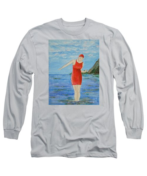Bold Red Long Sleeve T-Shirt by Tamyra Crossley
