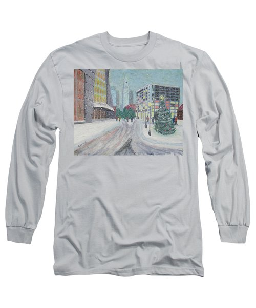 Boston First Snow Long Sleeve T-Shirt