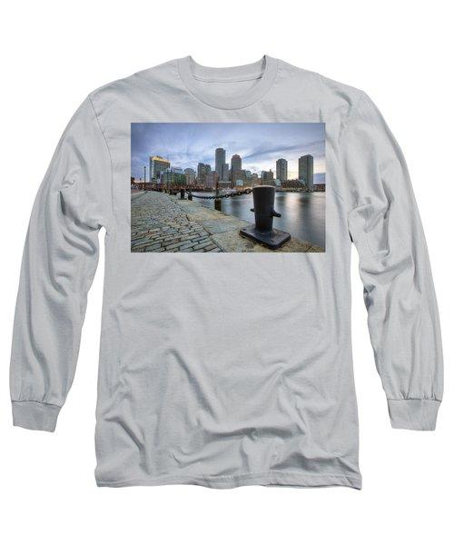 Boston Skyline Sunset Long Sleeve T-Shirt