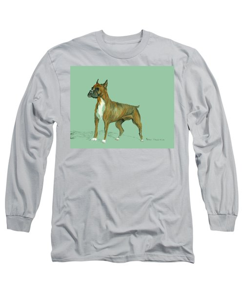 Long Sleeve T-Shirt featuring the pastel Boxer by Terry Frederick
