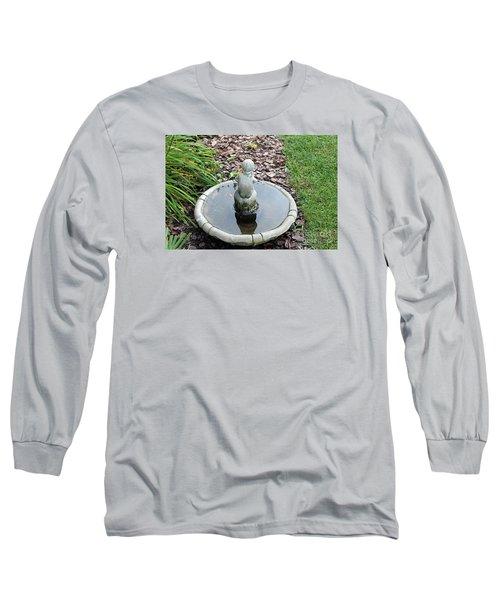 Boy In A Bird Bath Long Sleeve T-Shirt