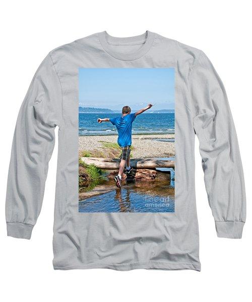 Boyhood Fun Art Prints Long Sleeve T-Shirt