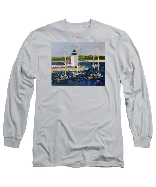 Brant Lighthouse Nantucket Long Sleeve T-Shirt by Michael Helfen