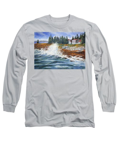 Breakers At Pemaquid Long Sleeve T-Shirt