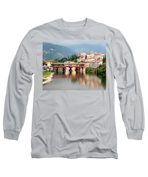 Bridge At Bassano Del Grappa Long Sleeve T-Shirt by William Beuther