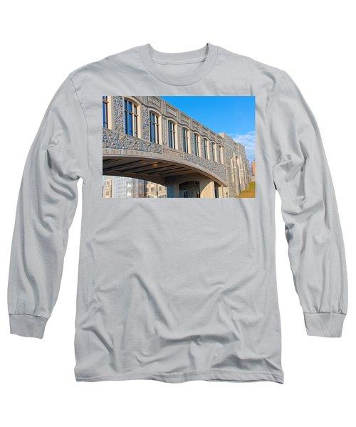 Bridge At Virginia Tech Long Sleeve T-Shirt by Melinda Fawver