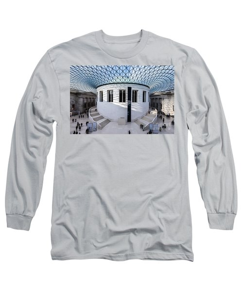 Long Sleeve T-Shirt featuring the photograph British Museum Color by Matt Malloy
