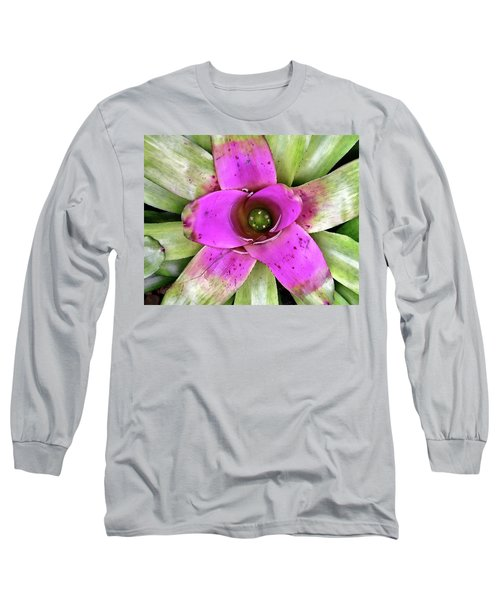 Long Sleeve T-Shirt featuring the photograph Bromeliad by Allen Beatty
