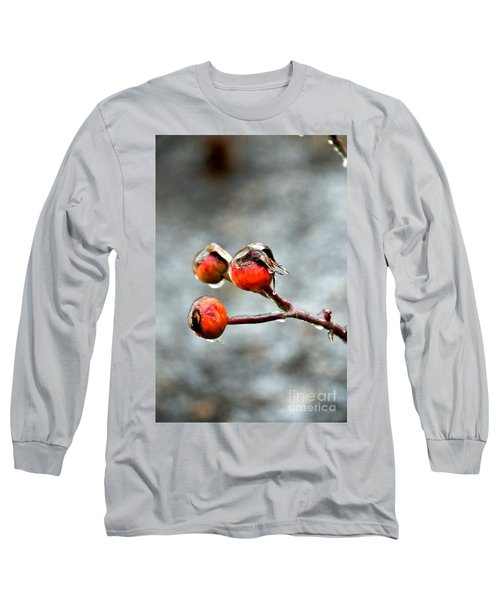 Buds On Ice Long Sleeve T-Shirt by Bonnie Myszka