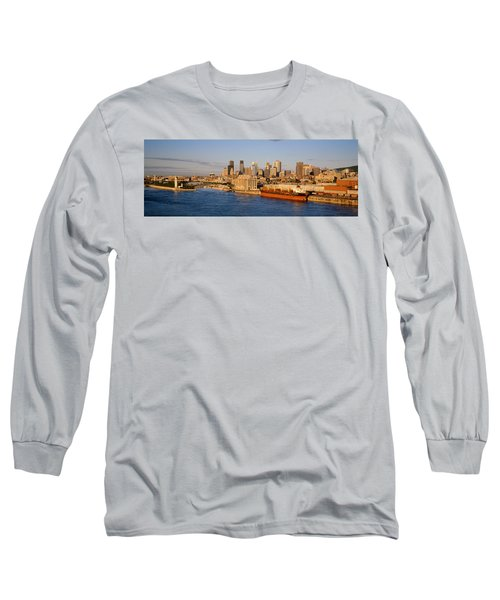 Buildings At The Waterfront, Montreal Long Sleeve T-Shirt