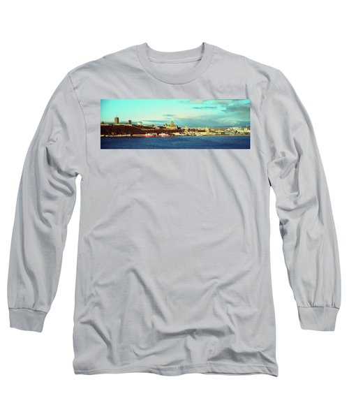 Buildings At The Waterfront, Quebec Long Sleeve T-Shirt