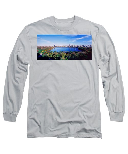 Buildings In A City, Central Park Long Sleeve T-Shirt