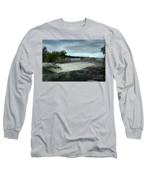 Long Sleeve T-Shirt featuring the photograph Burleigh Falls by Barbara McMahon