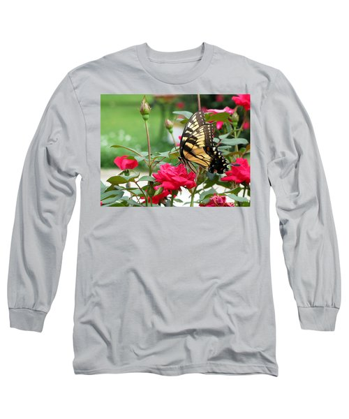 Butterfly Rose Long Sleeve T-Shirt by Greg Simmons