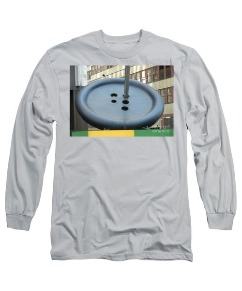 Long Sleeve T-Shirt featuring the photograph Button Button by Luther Fine Art