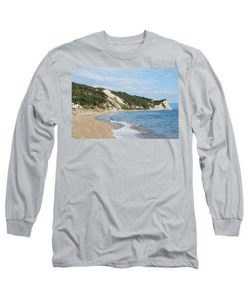 Long Sleeve T-Shirt featuring the photograph By The Beach by George Katechis