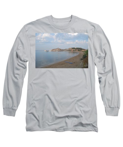 Long Sleeve T-Shirt featuring the photograph Calm Sea by George Katechis