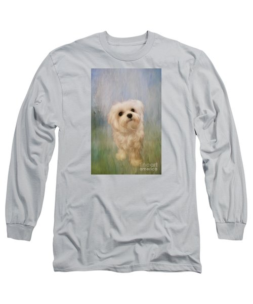 Can We Play Now Long Sleeve T-Shirt by Lois Bryan