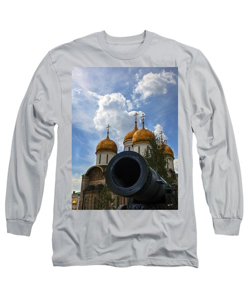 Cannon And Cathedral  - Russia Long Sleeve T-Shirt by Madeline Ellis