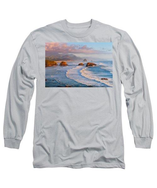 Cannon Beach Sunset Long Sleeve T-Shirt