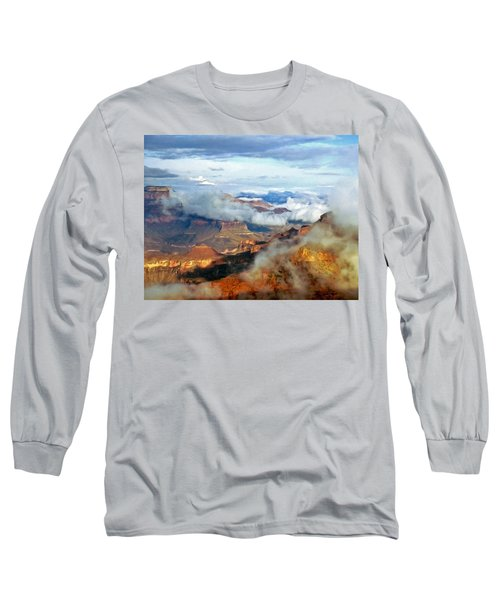 Long Sleeve T-Shirt featuring the photograph Canyon Clouds by Alan Socolik