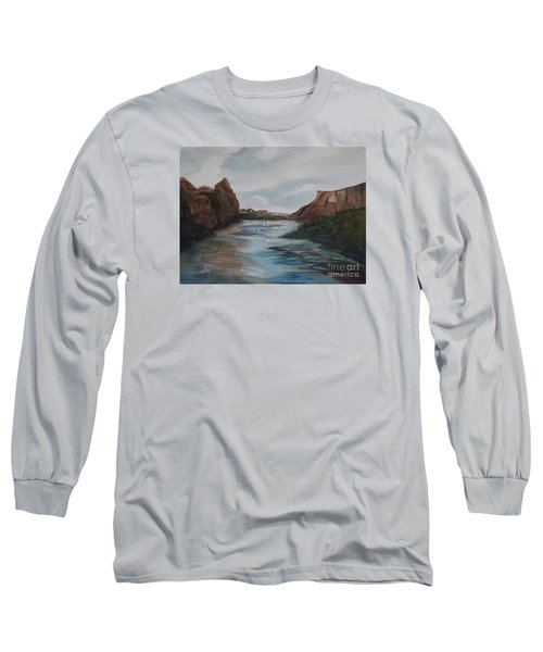 Long Sleeve T-Shirt featuring the painting Canyon De Chelly by Ellen Levinson