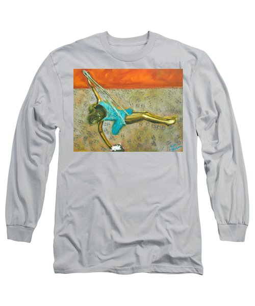 Long Sleeve T-Shirt featuring the painting Canyon Road Sculpture by Keith Thue