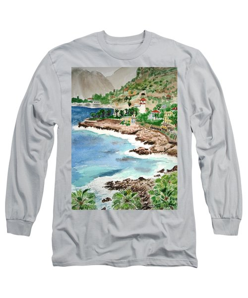 Cap D'ail On A Rainy Day Long Sleeve T-Shirt