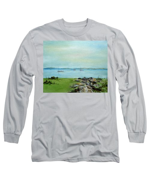 Cape Cod  Boats Long Sleeve T-Shirt by Judith Rhue