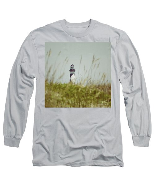 Cape Lookout Lighthouse - Vintage Long Sleeve T-Shirt