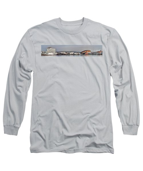Cardiff Bay Panorama 2 Long Sleeve T-Shirt