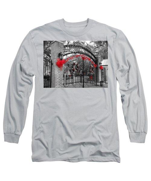 Carousel Gardens - New Orleans City Park Long Sleeve T-Shirt by Deborah Lacoste