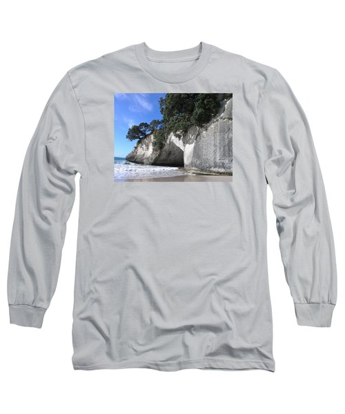 Long Sleeve T-Shirt featuring the photograph Cathedral Cove by Christian Zesewitz