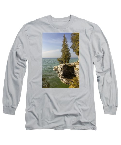 Cave Point - Signed Long Sleeve T-Shirt by Barbara Smith