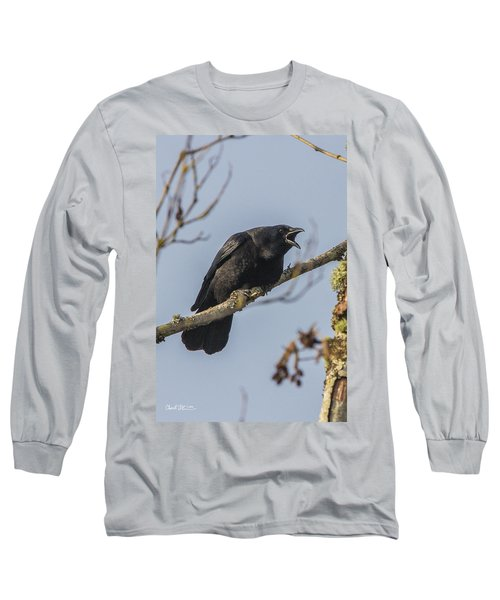 Caw Long Sleeve T-Shirt by Charlie Duncan
