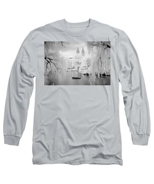 Central Park Lake-infrared Willows Long Sleeve T-Shirt