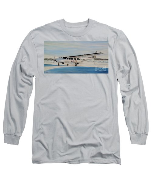 Long Sleeve T-Shirt featuring the painting Cessna 208 Caravan by Marilyn  McNish