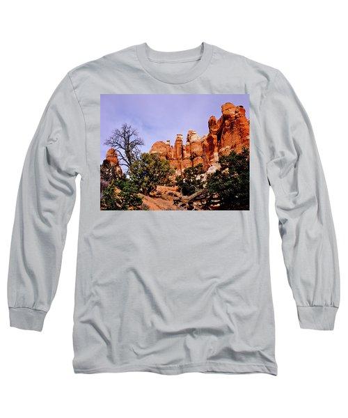 Chesler Park Pinnacles Long Sleeve T-Shirt by Ed  Riche