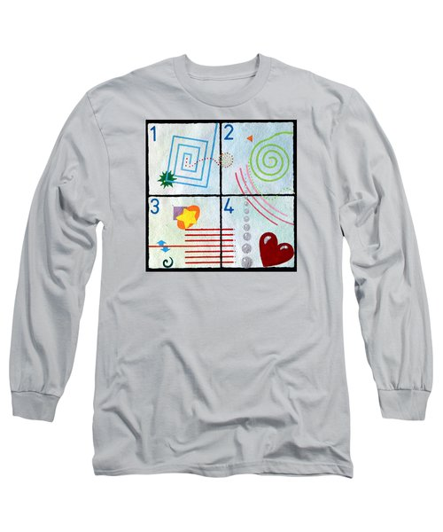 Long Sleeve T-Shirt featuring the painting Child's Play by Thomas Gronowski