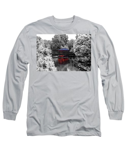Chinese Architecture In Regent's Park Long Sleeve T-Shirt by Maj Seda