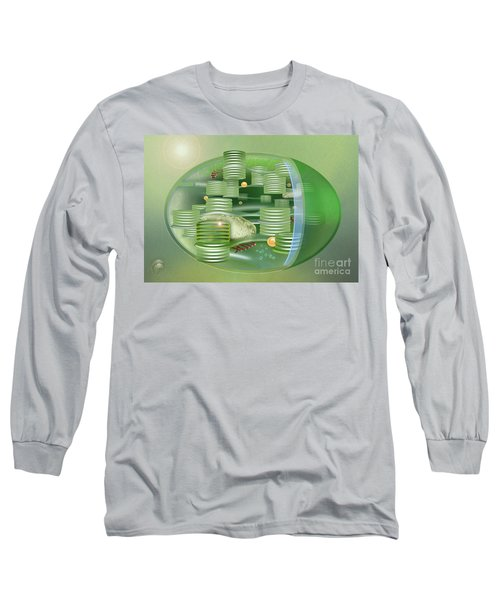 Chloroplast - Basis Of Life - Plant Cell Biology - Chloroplasts Anatomy - Chloroplasts Structure Long Sleeve T-Shirt
