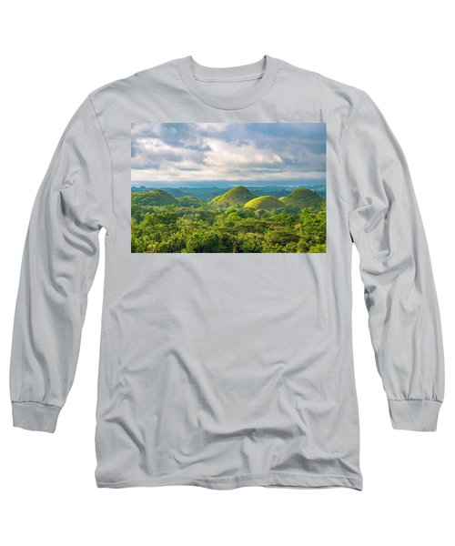 Chocolate Hills In Late Afternoon Long Sleeve T-Shirt